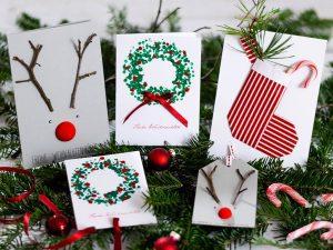 eigene weihnachtskarten Bastele deine eigenen Weihnachtskarten mit diesem DIY weihnachtskarten 2018 1 300x225
