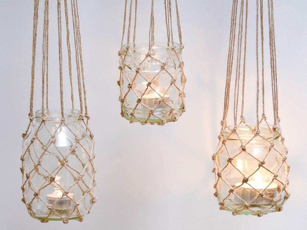 windlicht im fischernetz-look Windlicht im Fischernetz-Look: So gelingt auch dir der Makramee-Knoten windlicht fischernetz haengend hell gro 1024x768