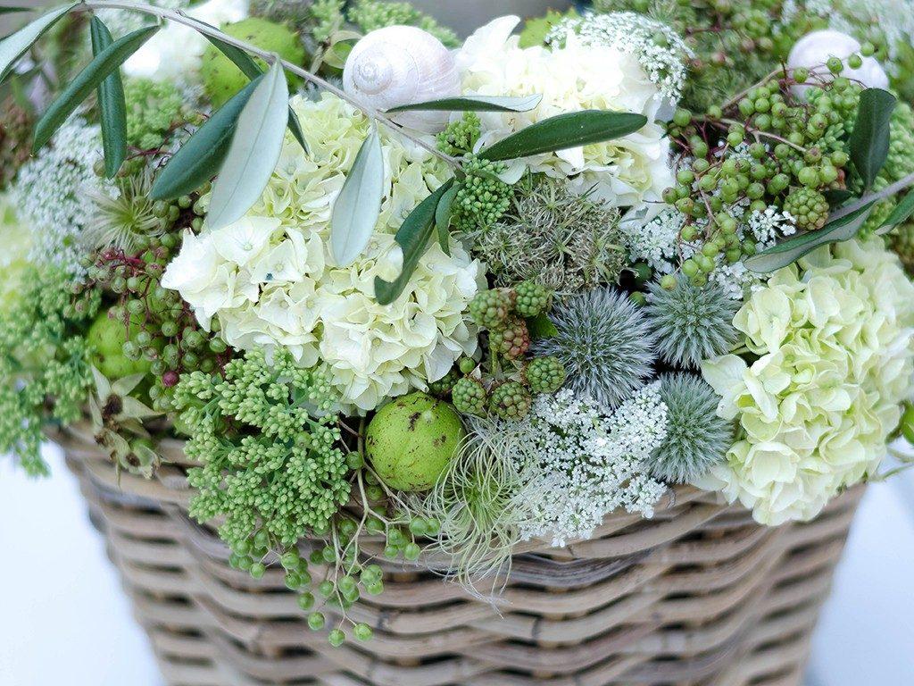 diy-hochzeitsgeschenk DIY-Hochzeitsgeschenk: Windlicht mit Hortensien, Beeren und Blüten windlicht hortensien beeren wei detail schnecke 1024x768