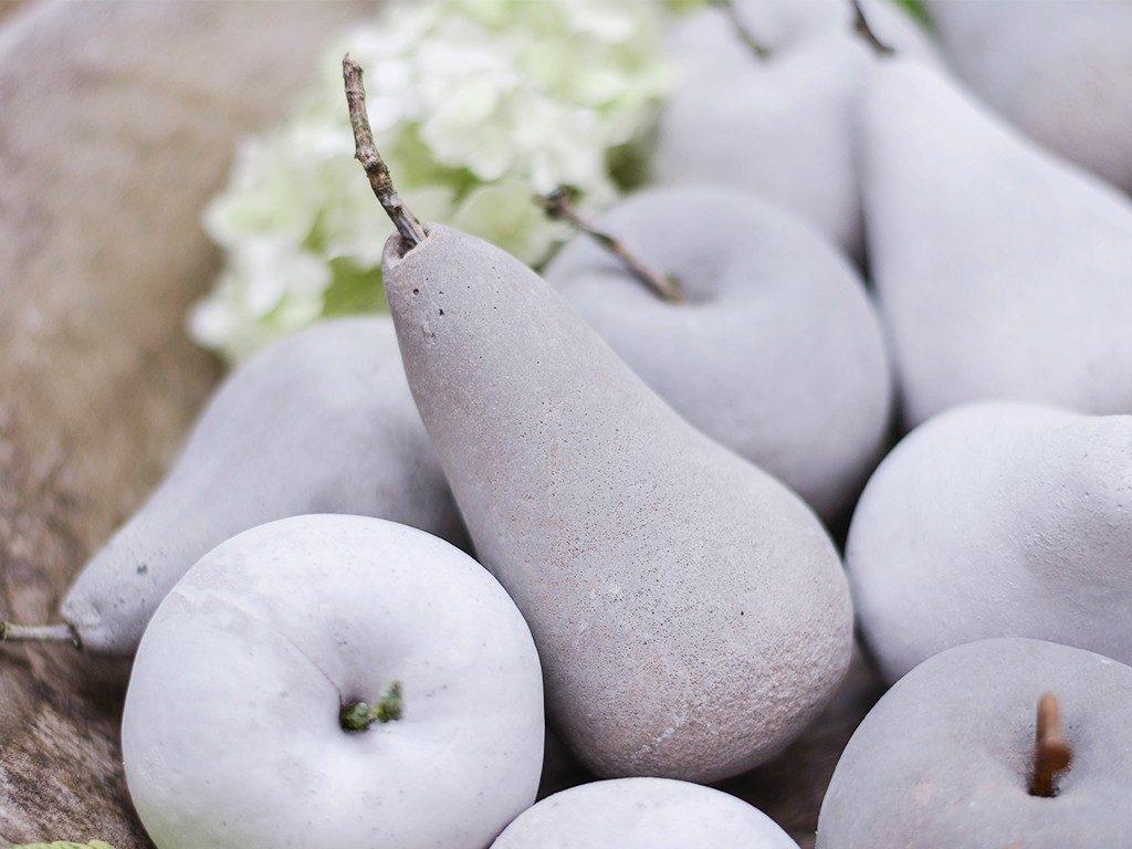 früchte aus beton Herbstdeko DIY: Früchte aus Beton mithilfe von Abform-Silikon betonfruechte abformsilikon 7 1024x768