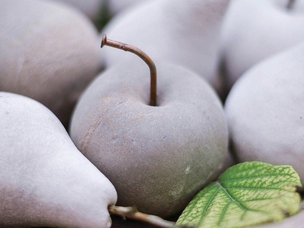 früchte aus beton Herbstdeko DIY: Früchte aus Beton mithilfe von Abform-Silikon betonfruechte abformsilikon apfel 1024x768