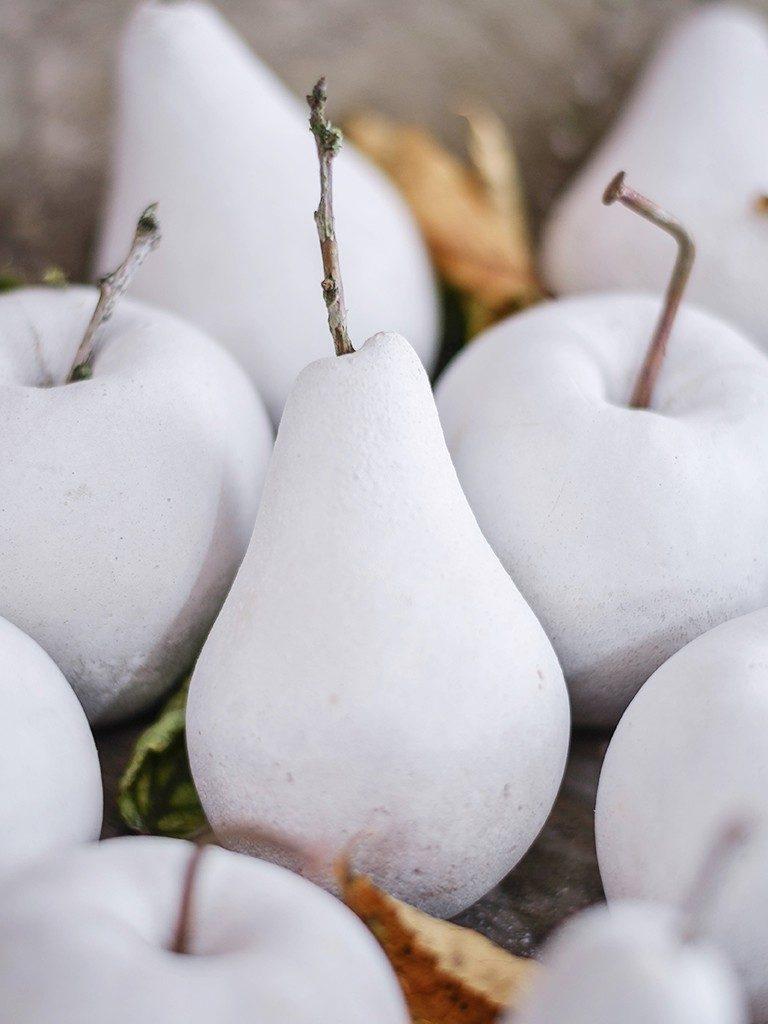 früchte aus beton Herbstdeko DIY: Früchte aus Beton mithilfe von Abform-Silikon betonfruechte abformsilikon birne 3 768x1024