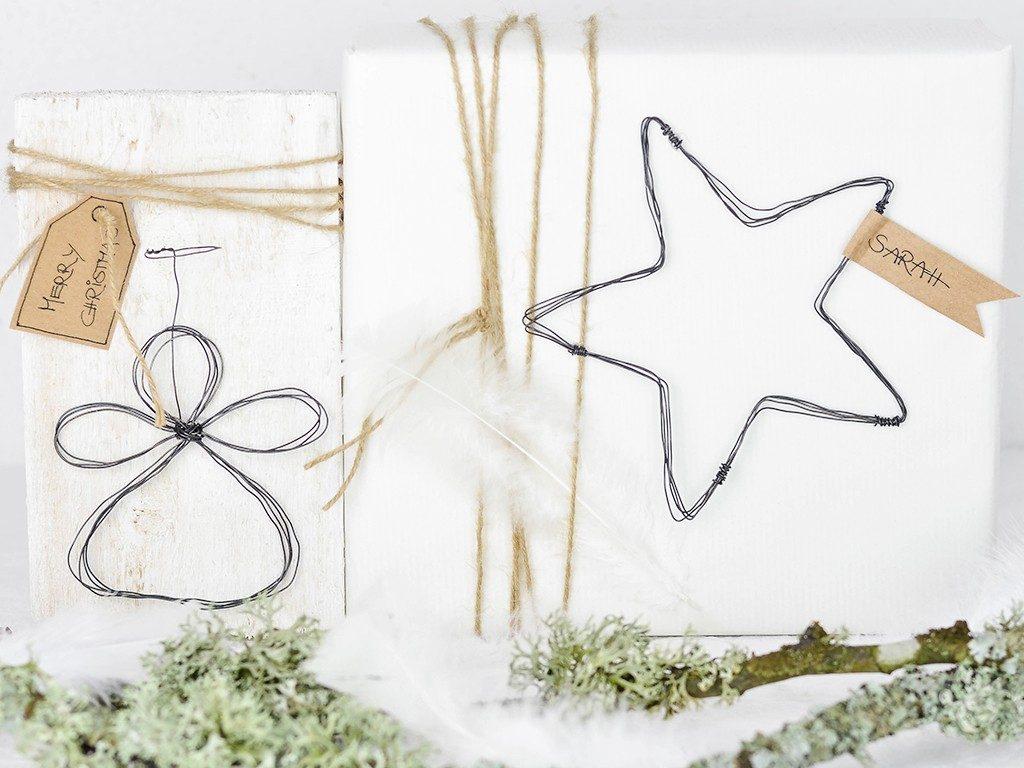 stern aus draht Weihnachtsdeko selber machen: Engel und Stern aus Draht als Geschenkanhänger drahtfigur engel stern 1024x768