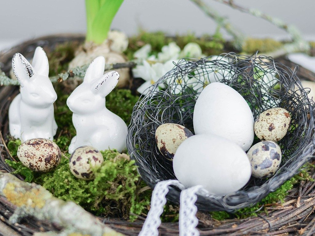 osternest aus draht DIY Frühlingsdeko: Hyazinthen-Schale oder Osternest aus Draht drahtnest schale 1 1024x768