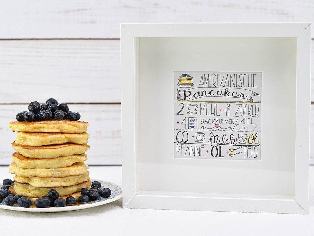 handlettering anleitung Geschenk zum Muttertag: Anfänger Handlettering Anleitung für Pancake Rezept handletterin pancake rezept 1024x768