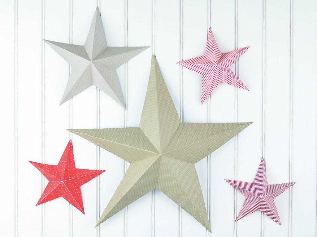 3d-weihnachtsstern Weihnachtsdeko selbst basteln: 3D-Weihnachtsstern aus Tonpapier stern tonkarton tapete 3d 1024x768
