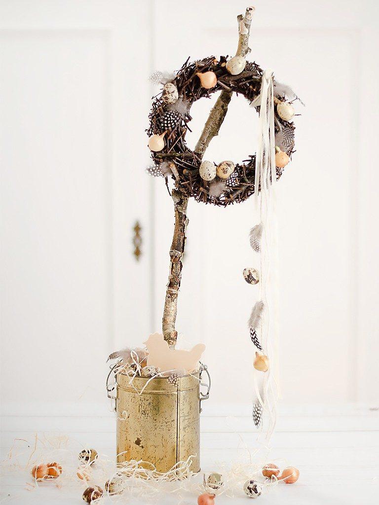 Frühlingsdeko DIY:  Kranz aus Ästen und Zweigen selber machen kranz zweige holzleim 5 1 768x1024