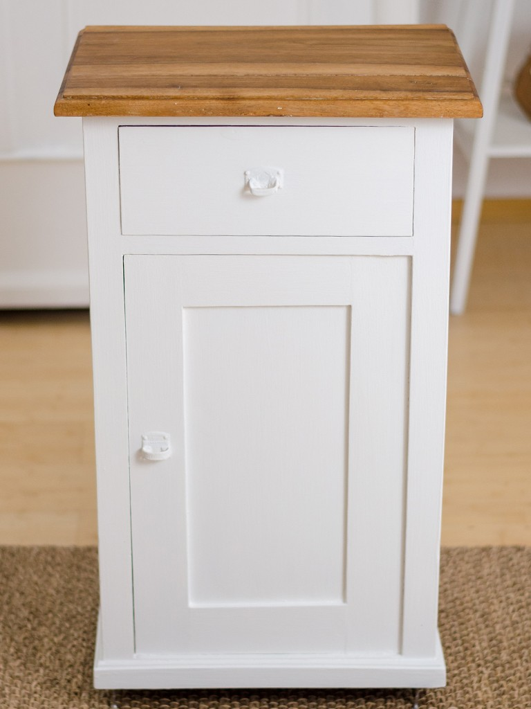 Möbel upcyceln: Schränkchen mit Kreidefarbe streichen, Holzplatte ölen schraenkchen streichen holzplatte len 18