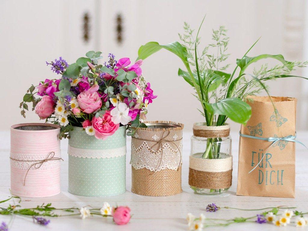 Blumenvase aus Dosen und Gläsern  DIY: 4 Blumenvasen-Ideen aus Dosen und Gläsern lonely bouquet day 3 1024x768