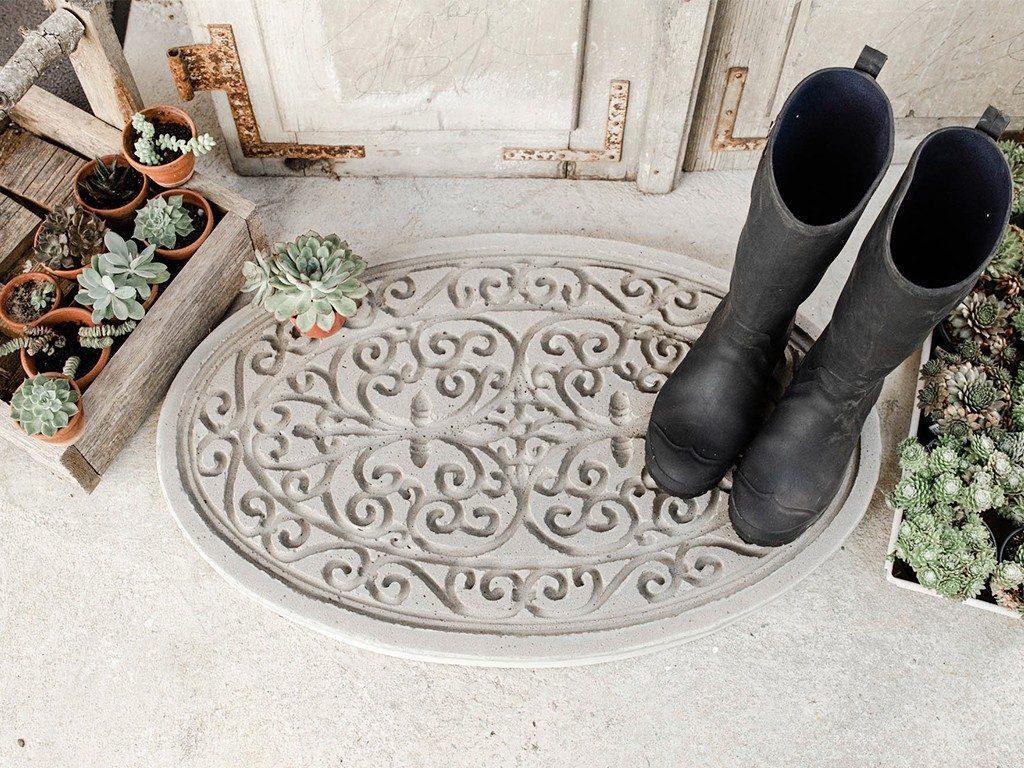 DIY-Trittplatte aus Beton gießen  DIY: Trittplatte aus Beton, für Hauseingang oder Gartenweg betontrittplatte aus gummifumatte 1 1024x768