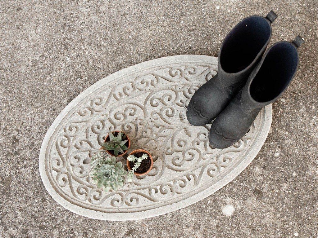 DIY-Trittplatte aus Beton gießen  DIY: Trittplatte aus Beton, für Hauseingang oder Gartenweg betontrittplatte aus gummifumatte 3 1024x768