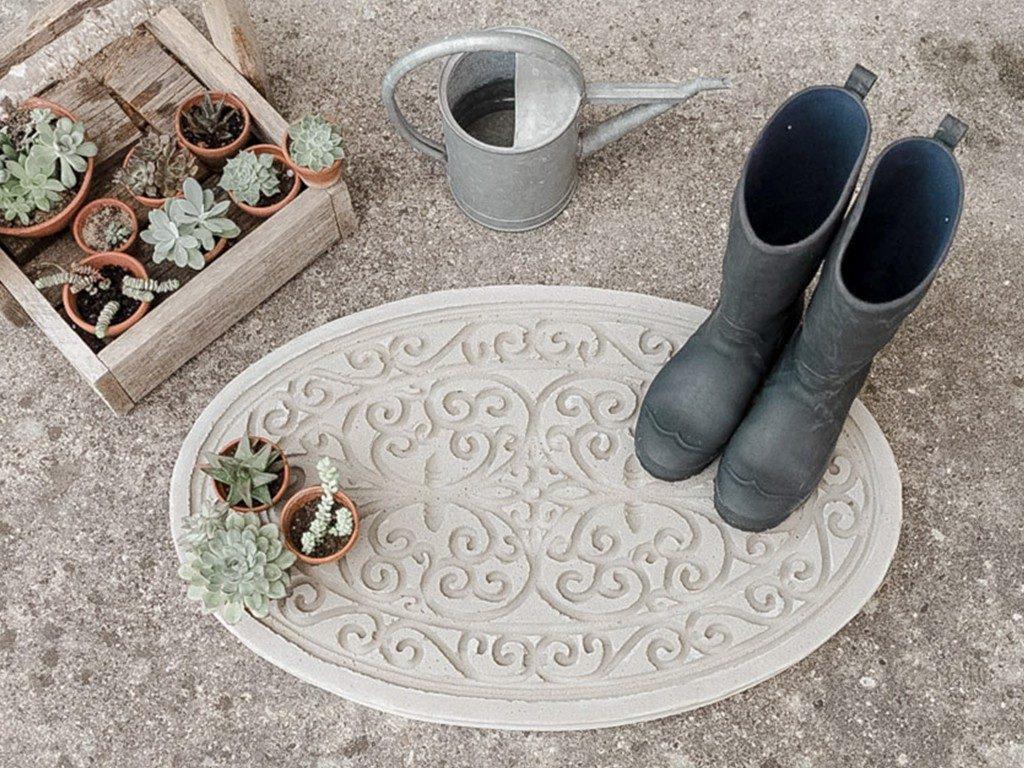 DIY-Trittplatte aus Beton gießen  DIY: Trittplatte aus Beton, für Hauseingang oder Gartenweg betontrittplatte aus gummifumatte neu1 1024x768