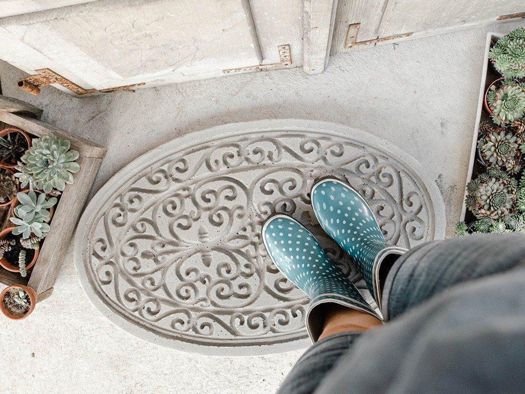 DIY-Trittplatte aus Beton gießen  DIY: Trittplatte aus Beton, für Hauseingang oder Gartenweg betontrittplatte gummifumatte 1024x768