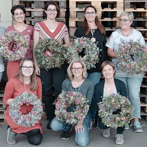 Workshop Herbstkränze binden-Einblick und Rückblick  Home workshop herbstkrnze