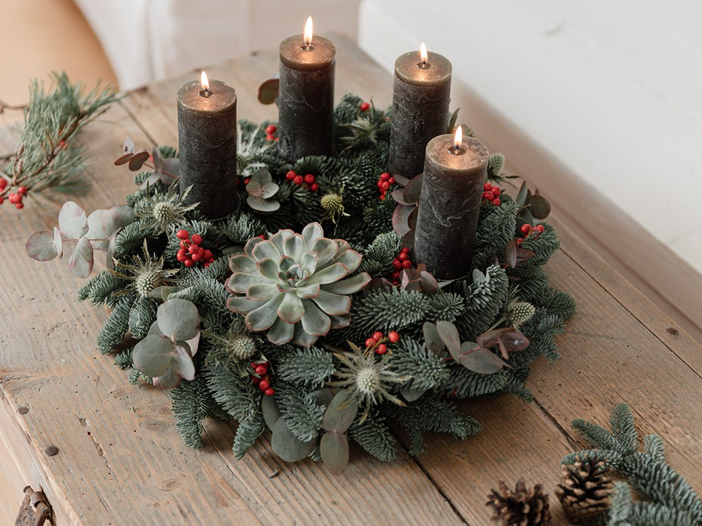 DIY: Adventskranz binden