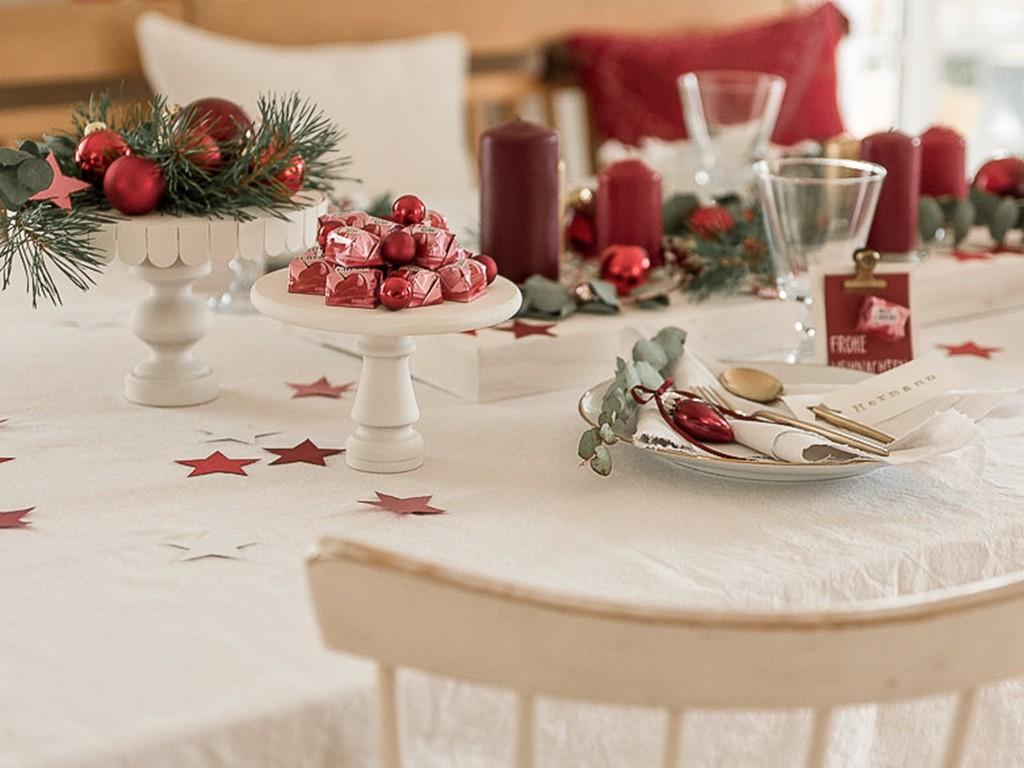 6 DIY-Ideen für Tischdeko Weihnachten [object object] DIY: festliche Tischdeko für deine Weihnachtstafel tischdeko weihnachten 28