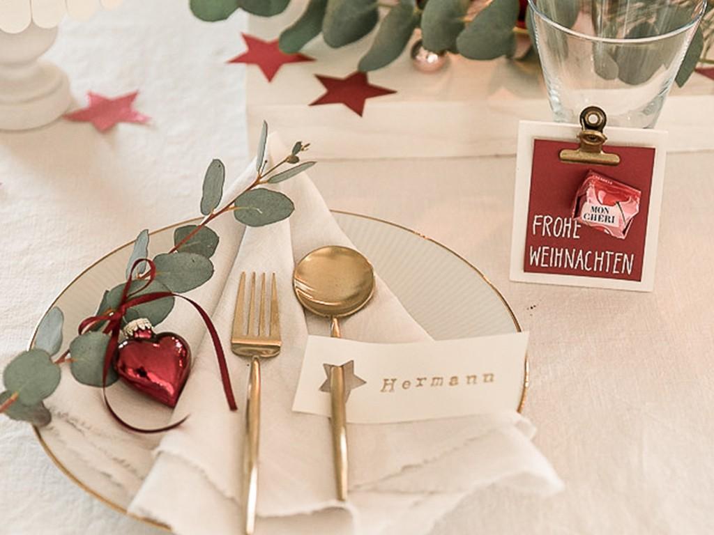 6 DIY-Ideen für Tischdeko Weihnachten [object object] DIY: festliche Tischdeko für deine Weihnachtstafel tischdeko weihnachten 47