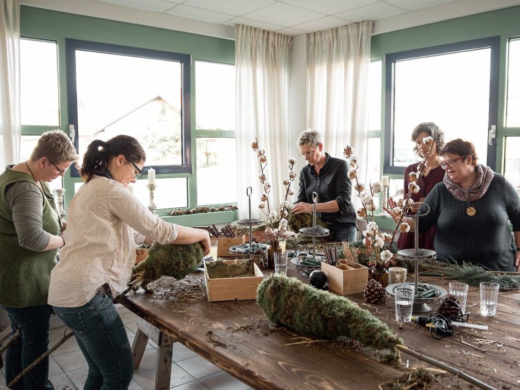 Workshop Nr. 2 Winterdeko aus Naturmaterial