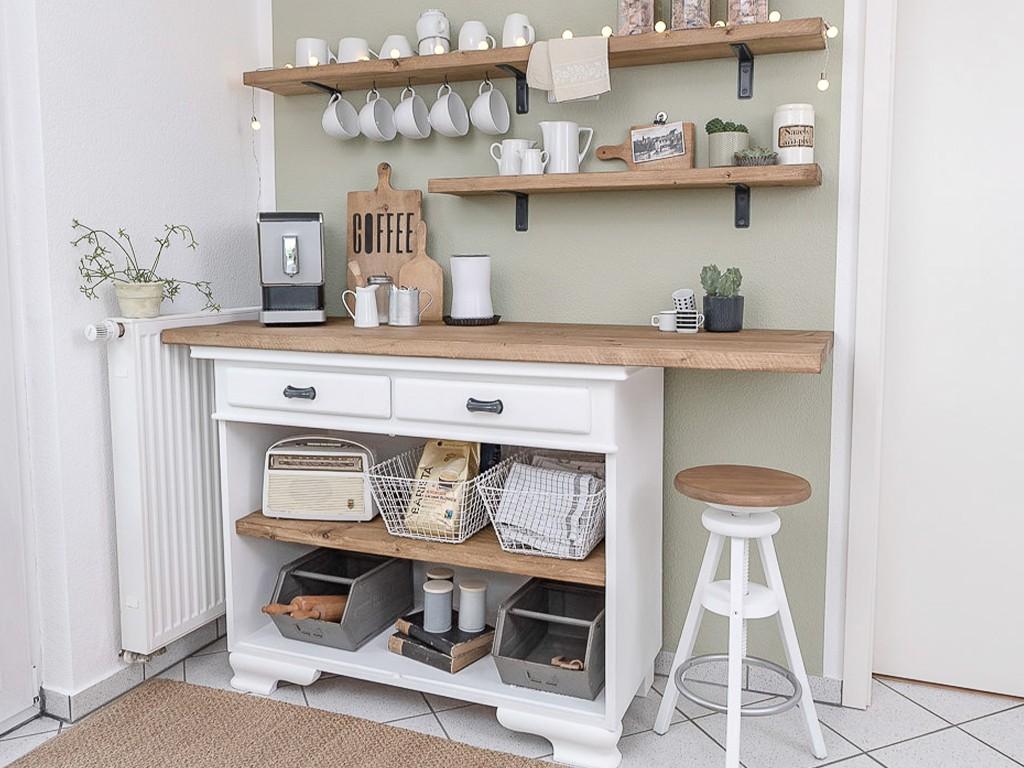 Makeover unserer Sitzecke in der Küche - Kaffeebar  Eine charmante Gestaltungsidee für unsere unpraktische Sitzecke in der Küche kaffee bar kche 18