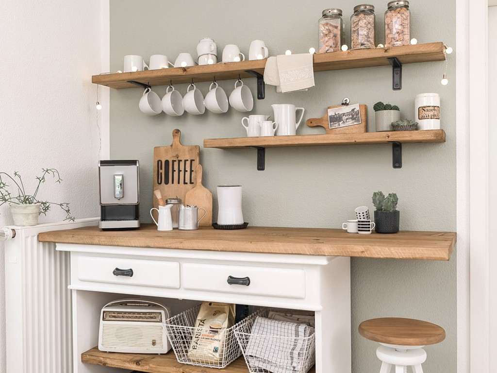 Makeover unserer Sitzecke in der Küche-Kaffeebar  Eine charmante Gestaltungsidee für unsere unpraktische Sitzecke in der Küche kaffee bar kche 2