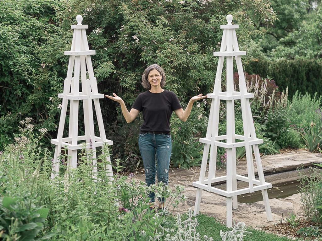 DIY Rankgerüst für Rosen und Kletterpflanzen selber machen